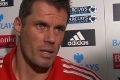 Post match with Carra